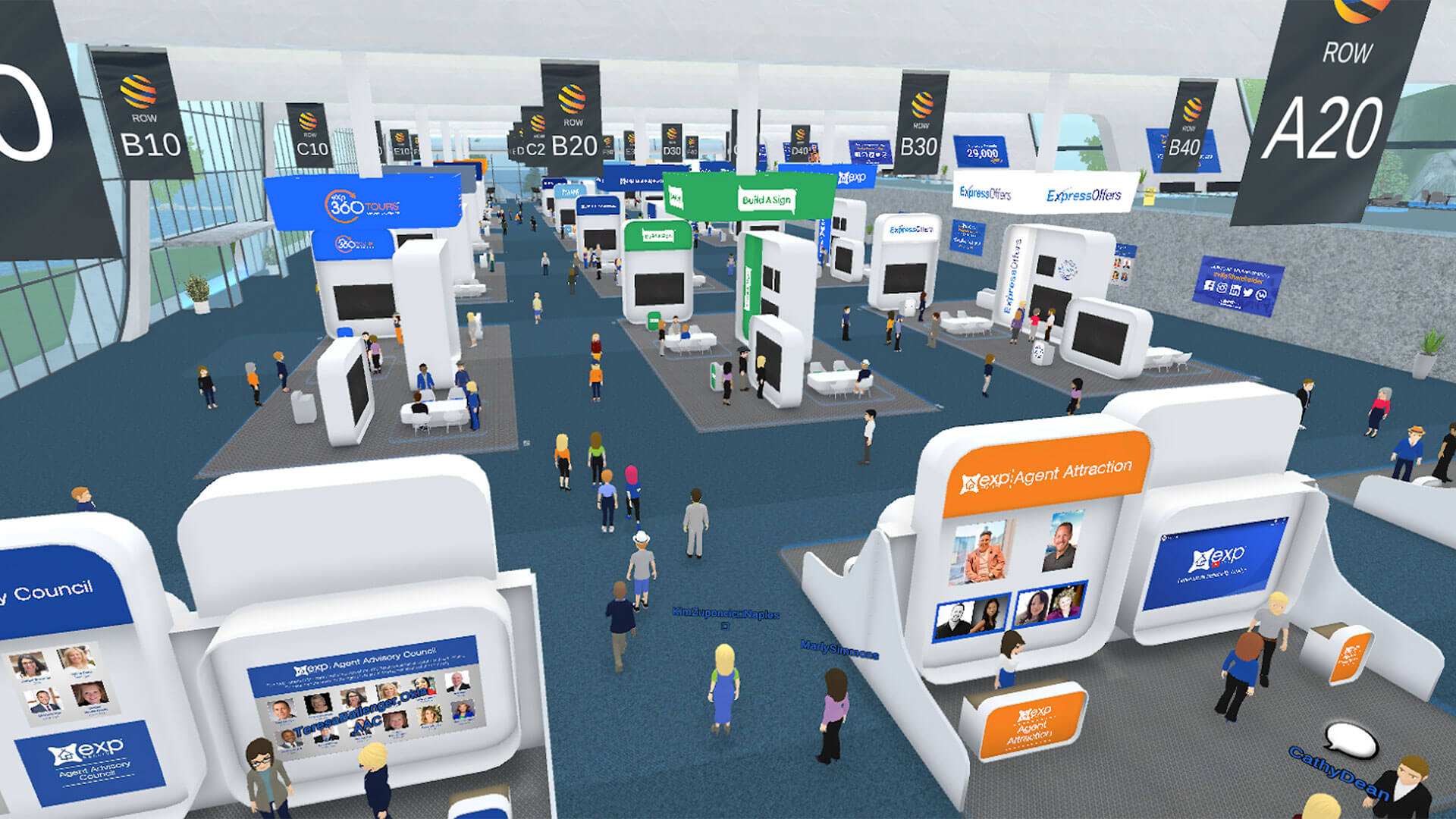 GoMeet overview of the expo hall at the digital campus
